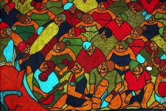 LOT-2-UNTITLED-11-BY-GBENGA-OGUNSAKIN-34X44.5-INCHES-INK-ON-CANVAS