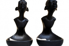 LOT 19 AND 24 HOSPITALITY 1 & 2 BY BISI FAKEYE 11 INCHES WOOD CARVING