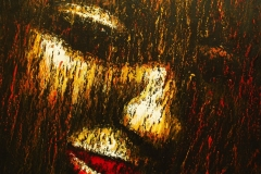 LOT 28 FACE BY NELSON OKOH 45X46INCHES OIL ON CANVAS