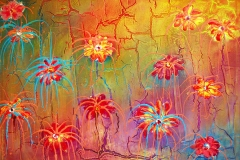 LOT 41 EXOTIC FLOWER BY GERRY NUBIA 36X48INCHES MIXED MEDIA 2010