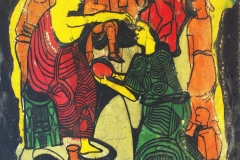 LOT 48 MARKET CEREMONY 2 BY JIMOH BURAIMOH 26 X 34 INCHES DEEP ETCHING 1986