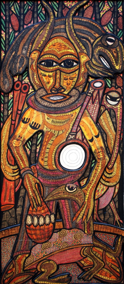 LOT-104-UNTITLED-BY-TWIN-77-20X40-INCHES-INK-ON-BOARD