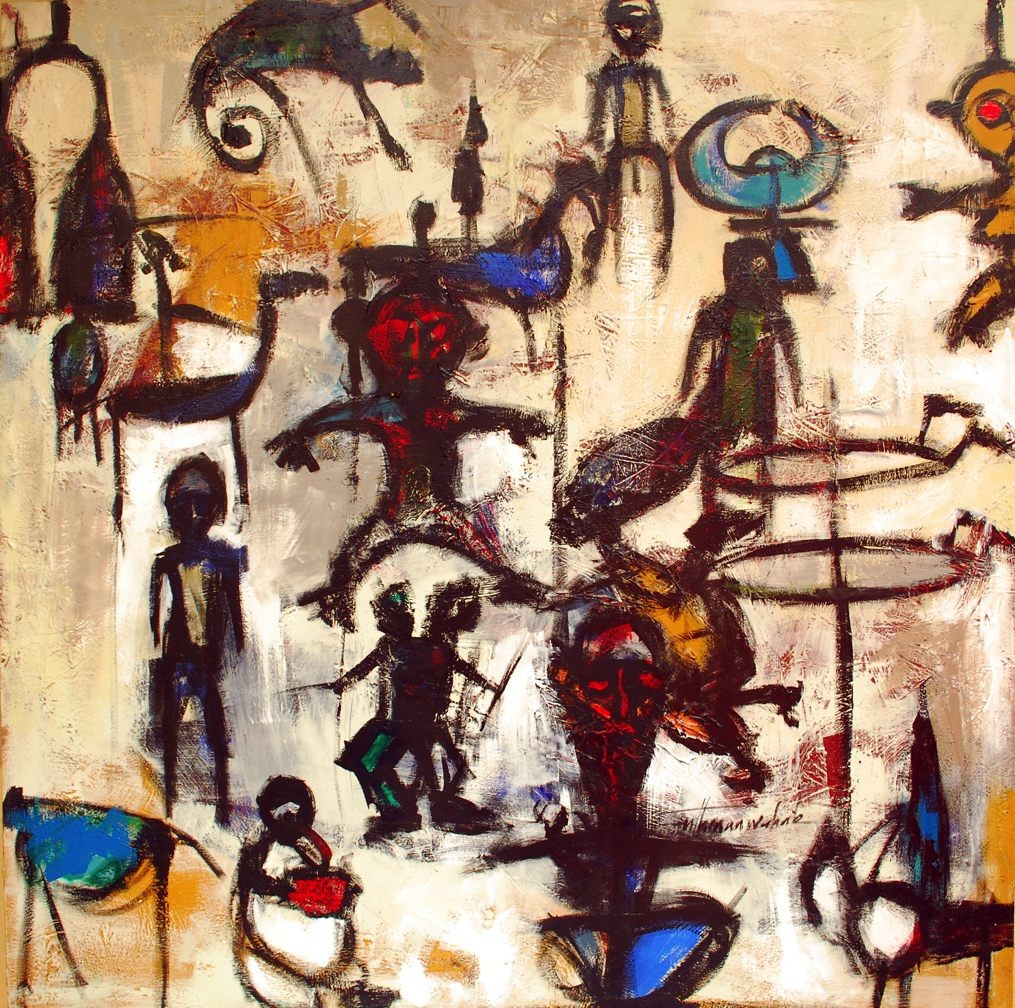 LOT-110-VIGNETTES-BY-WAHAB-UTHMAN-48X48-INCHES-OIL-ON-CANVAS