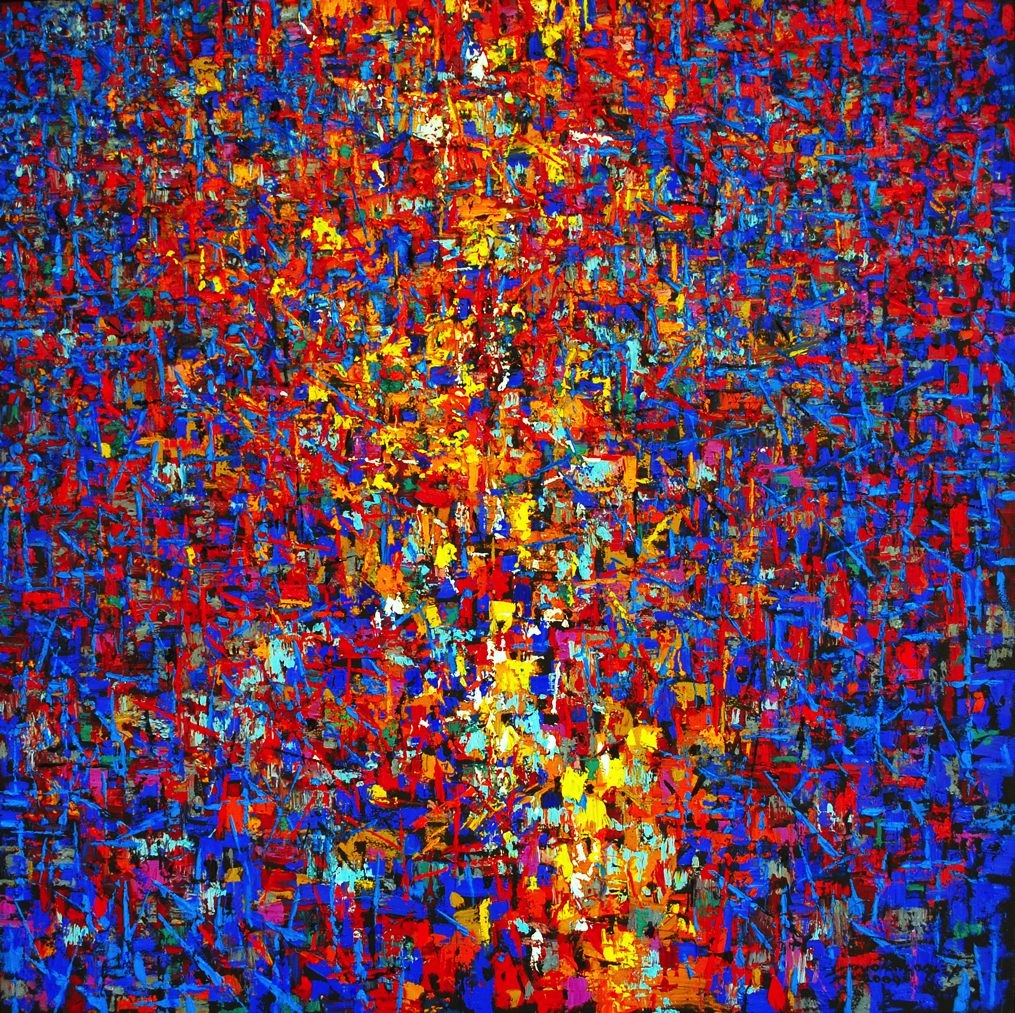 LOT-14-SPECTATORS-BY-ALEX-NWOKOLO-45-X-45-INCHES-OIL-ON-CANVAS-2009