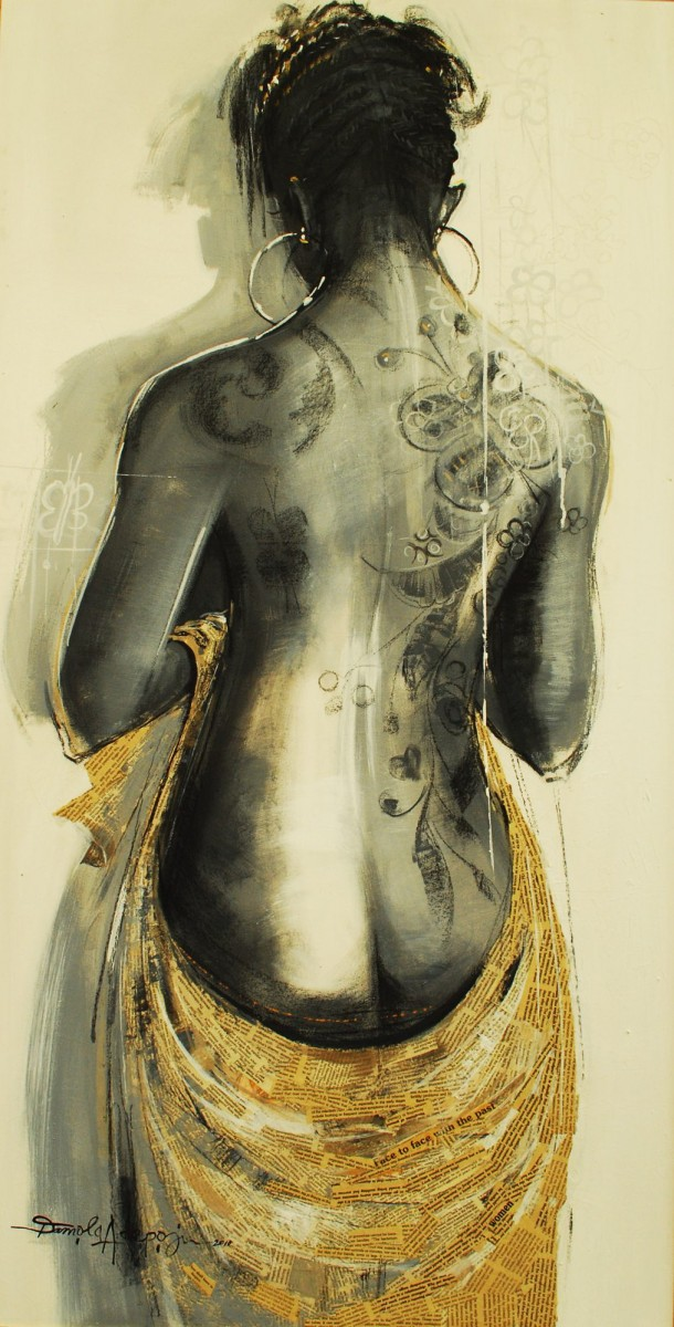 LOT-30-FACE-TO-FACE-BY-DAMOLA-ADEPOJU-48X24INCHES-MIXED-MEDIA