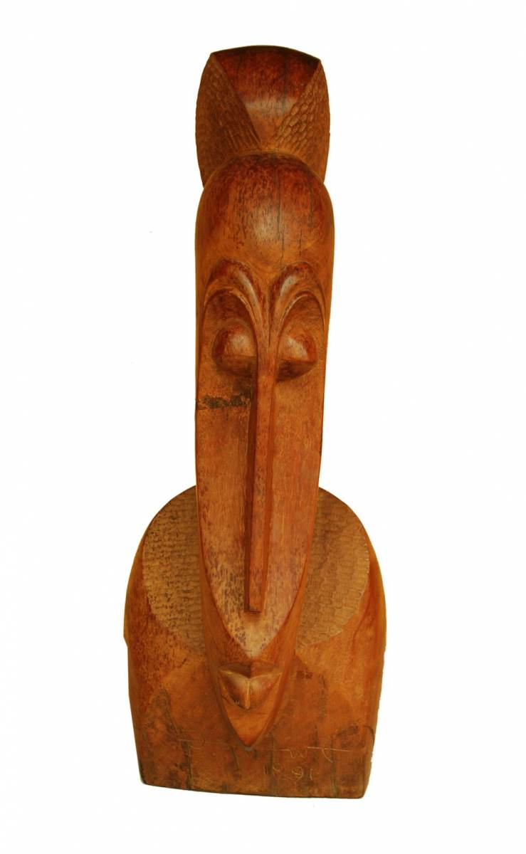 LOT-44-UNTITLED-BY-BEN-OSAWE-32-INCHES-WOOD-CARVING-1991