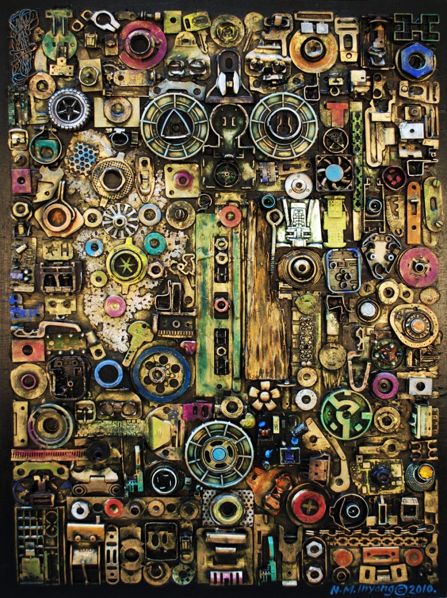 LOT-46-FROM-WASTE-TO-WEALTH-BY-N.M-INYANG-32X35-MIXED-MEDIA