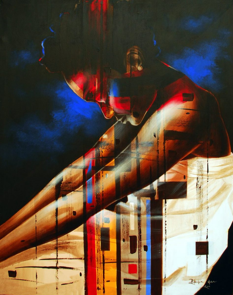 LOT-68-MEMORIES-OF-YOU-ARE-FADING-AWAY-BY-UCHE-EDOCHIE-60X46INCHES-OIL-ON-CANVAS