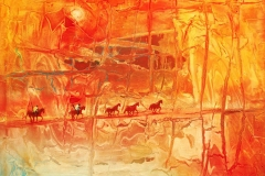 LOT-40-THE-LAND-OF-THE-BRAVE-BY-GERRY-NUBIA-36X48INCHES-OIL-ON-CANVAS-2011