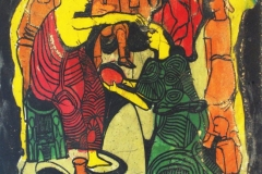 LOT-48-MARKET-CEREMONY-2-BY-JIMOH-BURAIMOH-26-X-34-INCHES-DEEP-ETCHING-1986